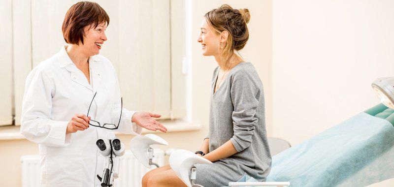 to be mother at gynecology clinic getting a routine checkup